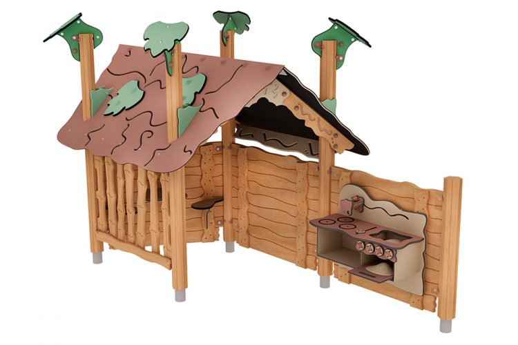 Playhouse made of cedar wood
