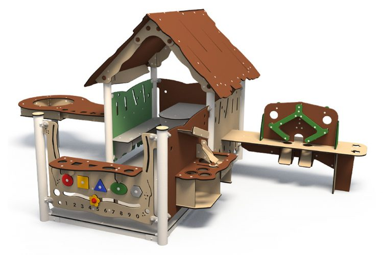Plastic playhouse in natural colours