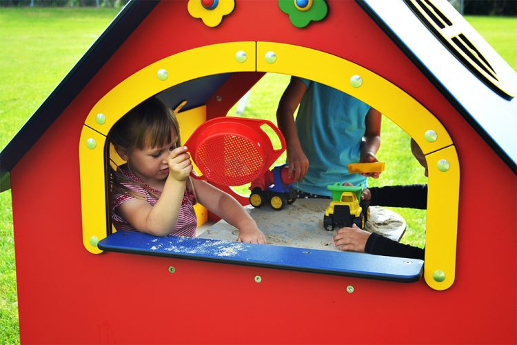 Plastic playhouse with window